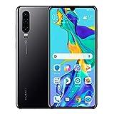 Huawei P30 128GB+6GB RAM (ELE-L29) 6.1' LTE Factory Unlocked GSM Smartphone (International Version) (Black) (Renewed)
