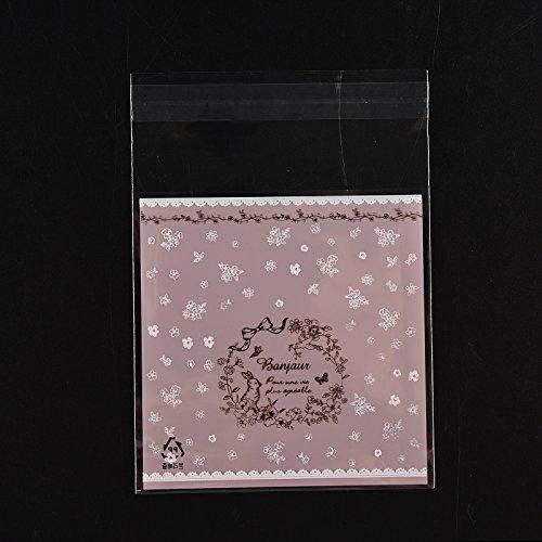Generic Blue: 100pcs buon Natale autoadesivo plastica valvola souvenir borsa per biscotti Cookie Sweet Packaging bag