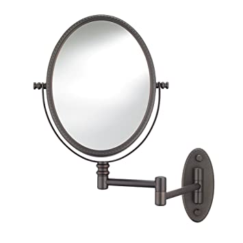 Amazon Com Conair Beaded Oval Wall Mount Mirror In Oil Rubbed