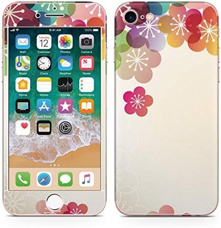 igsticker iPhone SE 2020 iPhone8 iPhone7 専用 スキンシール 全面スキンシール フル 背面 側面 正面 液晶 ステッカー 保護シール 000214 フラワー 日本語・和柄 和柄 梅 はな 花