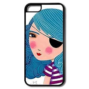 IPhone 5c Cases Bule Girl Design Hard Back Cover Cases Desgined By RRG2G