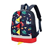 Children's Mini Backpack, Toddler Boys Girls Lightweight Dinosaur Animals Backpack School Bag, Best Gift For 3-8 years old Kids (Dark Blue)