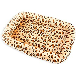 Aiweasi Lovely Cute Comfortable Warm Dog Cat Puppy Pet Bed Pet Kennel Sleeping Mat(Coffee,L)
