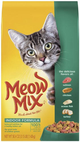 Meow Mix Indoor Formula, 3.15-Pounds (Pack of 3), My Pet Supplies