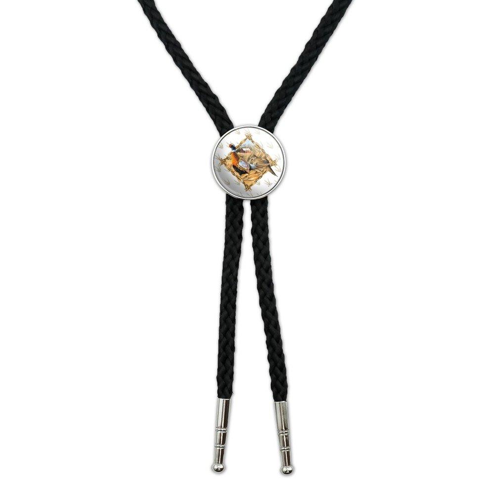 Pheasant Diamond Western Southwest Cowboy Necktie Bow Bolo Tie GRAPHICS & MORE