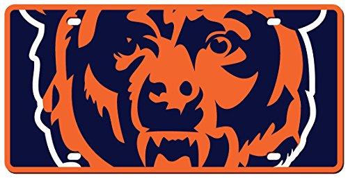 Chicago Bears License Plate - Acrylic Mega Style (Laser License Bears Chicago Plate)