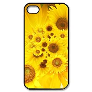 Hard Shell Case Of Sunflower Customized Bumper Plastic case For Iphone 4/4s