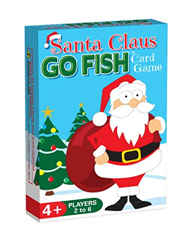 Santa Claus GO FISH, a 3-in-1 Christmas Game for Kids (GO FISH, Old Maid, and Christmas Matches), 3 Fun Classic Kids Card Games in ONE Holiday Themed Deck, Ideally Sized for Use as Stocking Stuffers