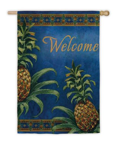 Beau Pineapple Welcome Garden Flag