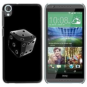Planetar® ( Black & White Chrome Dice ) HTC Desire 820 Fundas Cover Cubre Hard Case Cover