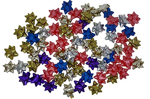 72 Pcs Gift Decorations Bows - 2.5'' Peel And Stick | Garlands Bows, Home Decor, Gift Wraps, Gift Box Bows by J&J's ToyScape