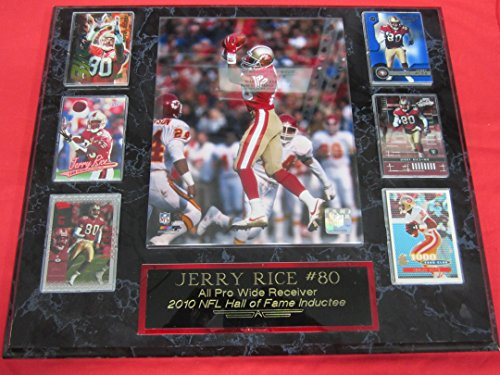 49ers Jerry Rice 6 Card Collector Plaque w/8x10 Color Photo