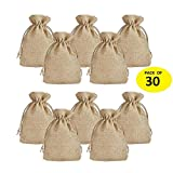 Jute Potlis | Gift Bags for Return Gifts Bags | Pack of 30 | | Size 14.5*9.5cms | Jute Linen,Burlap | Natural Jute Color| For Weddings , Functions, Parties, Baby Showers, Birthdays, Festivals or Any Occasion