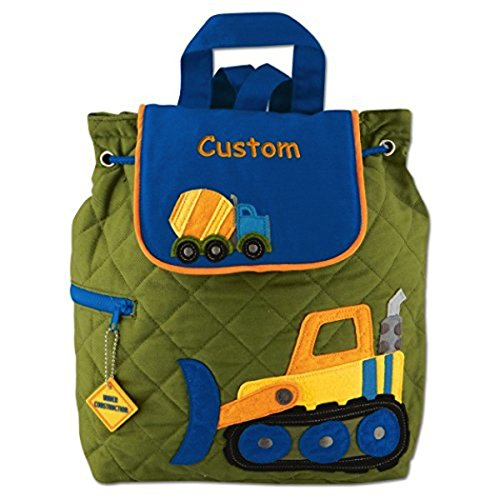 Children Personalized Gift - Personalized Construction Truck Embroidered Backpack, CUSTOM