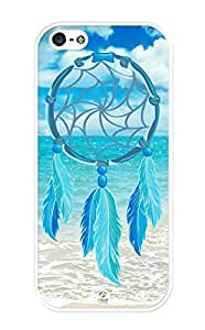 iZERCASE Dream Catcher Ocean Blue Pattern RUBBER iPhone 5 case - Fits iPhone 5, iPhone 5S T-Mobile, Verizon, AT&T, Sprint and International