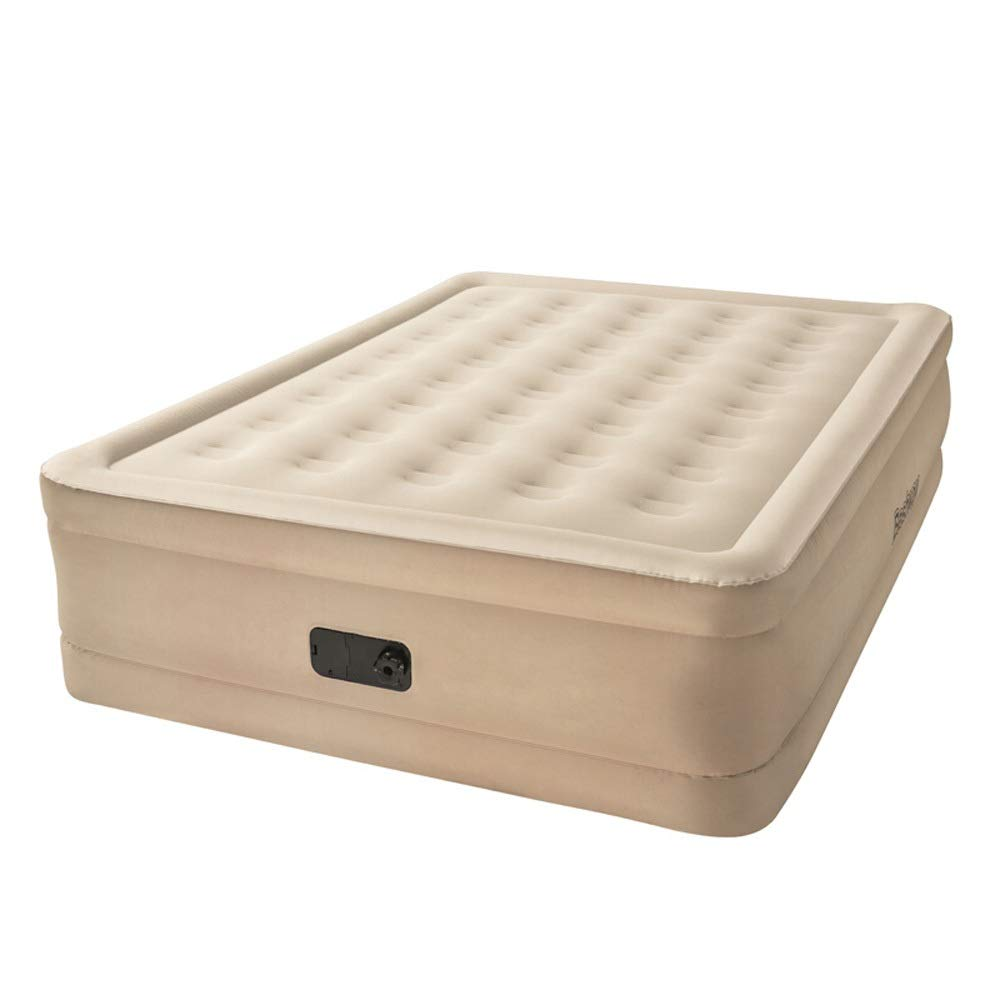 LSX Doppeltes aufblasbares Bett doppeltes Starkes Luftbett eingebautes automatisches aufblasbares Wohnzimmerbett Büro-Siestabett