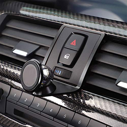 TongSheng 3 Colours Alumium Alloy Mobile Phone Holder Trim for BMW 3 4 Series GT F30 F30 F34 F32 F33 F36 2013-2019 Car Accessories (Black)