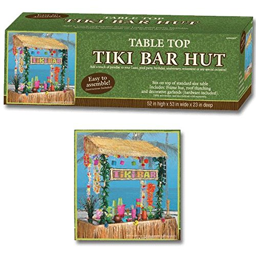 Amscan Table Top Tiki Bar Hut, 52 in High53 in wide23 in deep by Amscan (Image #3)