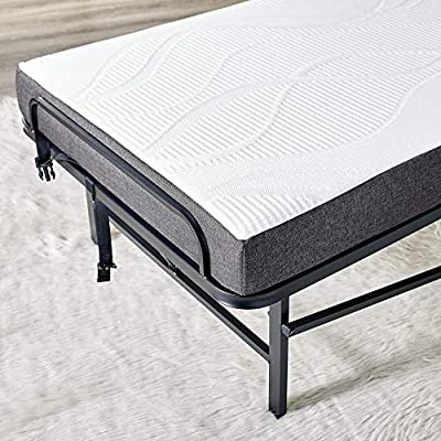 Classic Brands Hercules Premium Folding Cot with 4-Inch Memory Foam Mattress - Perfect Guest Bed Featuring a Super Strong Frame, Cot Size