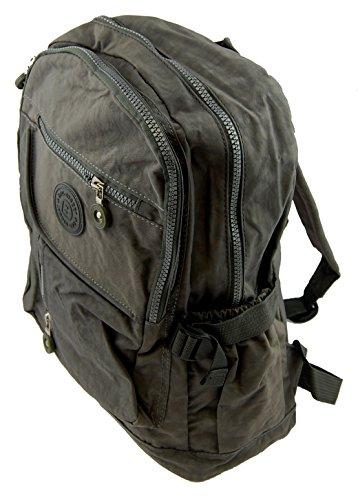 NB24 Bag Street Rucksack (2216), grau, Crinkle Nylon, ca. 38 x 30 x 18 cm, Freizeitrucksack, Damen und Herren Tasche, Schultasche, Schulrucksack, Freizeittasche, Sporttasche