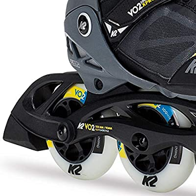 K2 Skate Men's VO2 100 X Pro Inline Skate, Black Gray Yellow : Sports & Outdoors