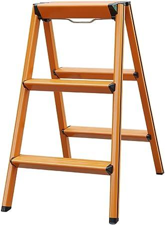 GBY Escalera Cocina Escalera Plegable de Aluminio con Pedal Antideslizante y Cerradura de Seguridad: Adecuada para Trabajos extraños Escaleras Plegables: Amazon.es: Hogar