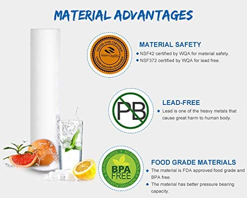 CFS110 Aqua-Pure AP110 Culligan//Pentek P5 RS14 5 Micron 10 x 2.5 Whole House Sediment Water Filter Replacement Cartridge Compatible with Any 10 inch RO Unit WHKF-GD05 3-Pack Dupont WFPFC5002