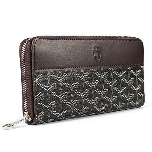 Wallets for Women Zip Around Wallet Genuine Leather Phone Clutch RFID Blocking with Card Holder Organizer (Black 1)
