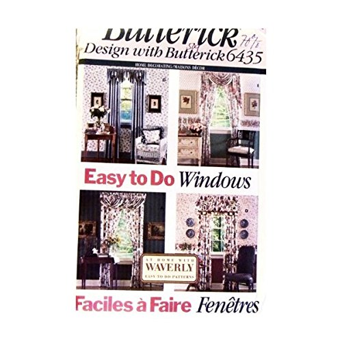 OOP Butterick Home Decor Pattern 6435. Easy to Do Window Treatments