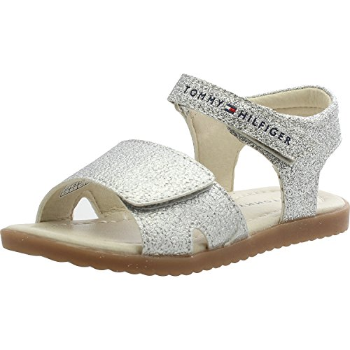 Infant 0067 00241 Silver T1A2 Sandals Strap Hilfiger Leather Silver Tommy 7YTqa