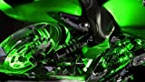 Green Motorcycle LED Neon Accent Lighting Kit