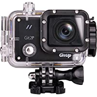 Gitup Git2P Wifi 2160P 24FPS Full HD Action Camera Waterproof Sport DVR with Panasonic Sensor 170° Wide Angle with 1000Amh Rechargeble Battery