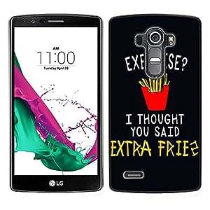 Dragon Case - FOR LG G4 - i thought you said - Caja protectora de pl??stico duro de la cubierta Dise?¡Ào Slim Fit