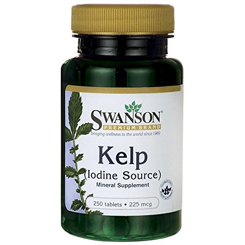 Swanson Kelp (Iodine Source) 225 mcg 250 Tabs