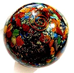 Healing Crystals India 40-50mm Natural Gemstone Sphere Aura Balancing Metaphysical (Seven Chakra)