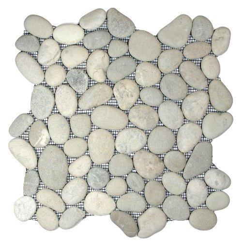 Bali Cloud Pebble Tile 1 sq.ft. (Mesh ()