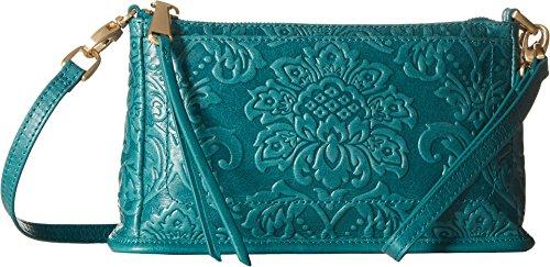 [Hobo Women's Vintage Cadence Convertible Crossbody Bag (Damask Emboss Teal Green)] (Hobo Purse)
