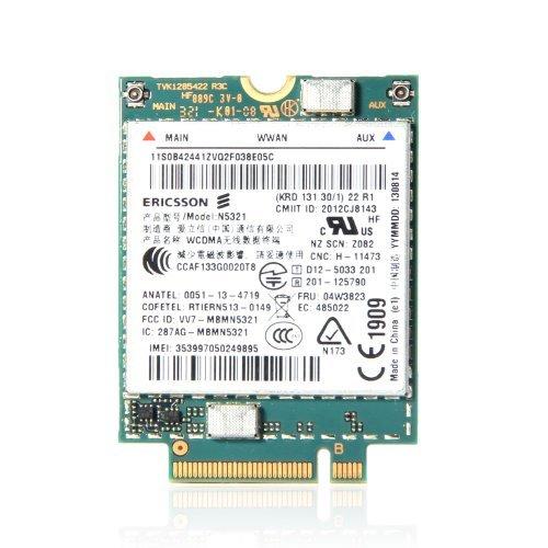 Ericsson N5321GW 04W3823 3G Module Lenovo Thinkpad WWAN S540 X230s X240s T440 T540p Card by Ericsson