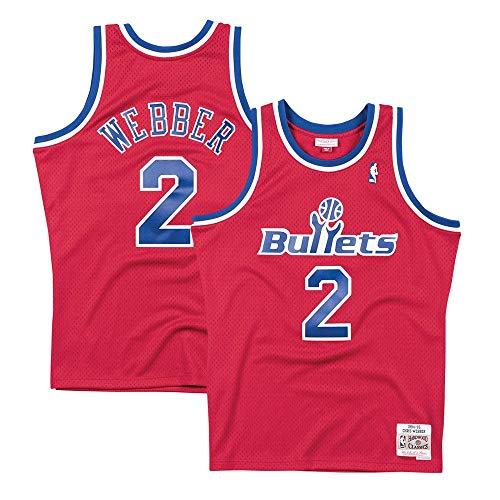 Mitchell & Ness Washington Bullets Chris Webber Swingman Jersey Red (Large)