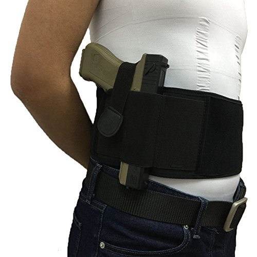 Wakeach Black Ultimate Belly Band Holster for Concealed Fits