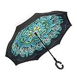 great ideas for patio design Amagoing Car Inverted Umbrella Double Layer Windproof Reverse Umbrella for Rain Sun