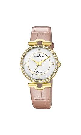 Candino Reloj Análogo clásico para Mujer de Cuarzo con Correa en Cuero C4673/1: Amazon.es: Relojes