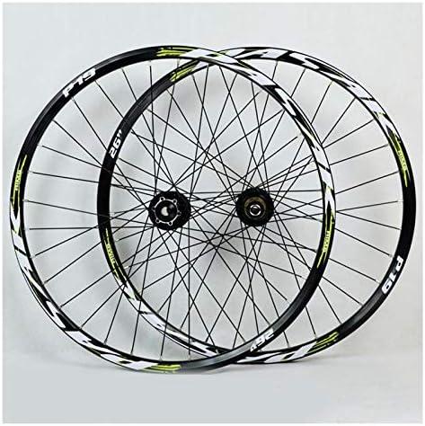 Bike Wheelset 26 27.5 / 29インチのマウンテンバイクホイールダブルレイヤーアナルディスク/自転車ホイールディスクブレーキ7-11スピードペイリンがハブクイックリリース32Hベアリング (Color : E, Size : 27.5in)