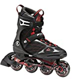 K2 Skate F.I.T. 80 Inline Skates, Black/Red, 5
