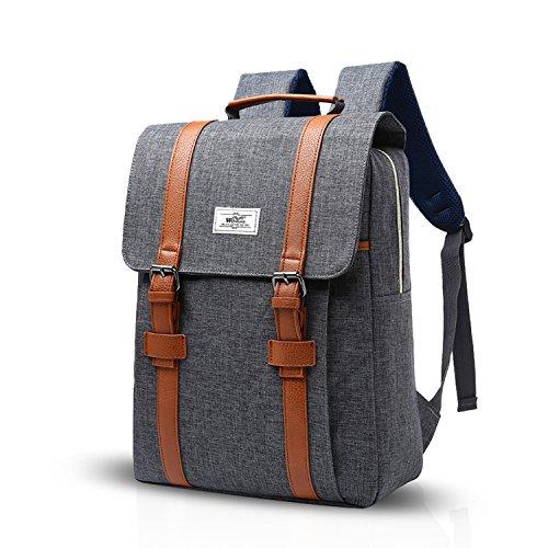 FANDARE Rucksack Laptoprucksäcke Schulrucksack Daypack Arbeit Reisen Studenten Polyester Grau Grau 1i5Wpm4XM