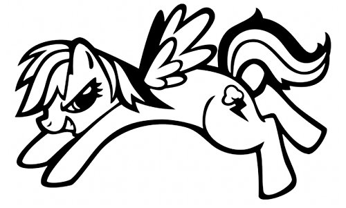 WHITE MLP RAINBOW DASH LOGO CAR DECAL CAR WINDOW NEW STICKER