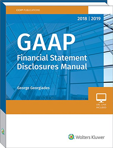 GAAP Financial Statement Disclosures Manual, 2018-2019