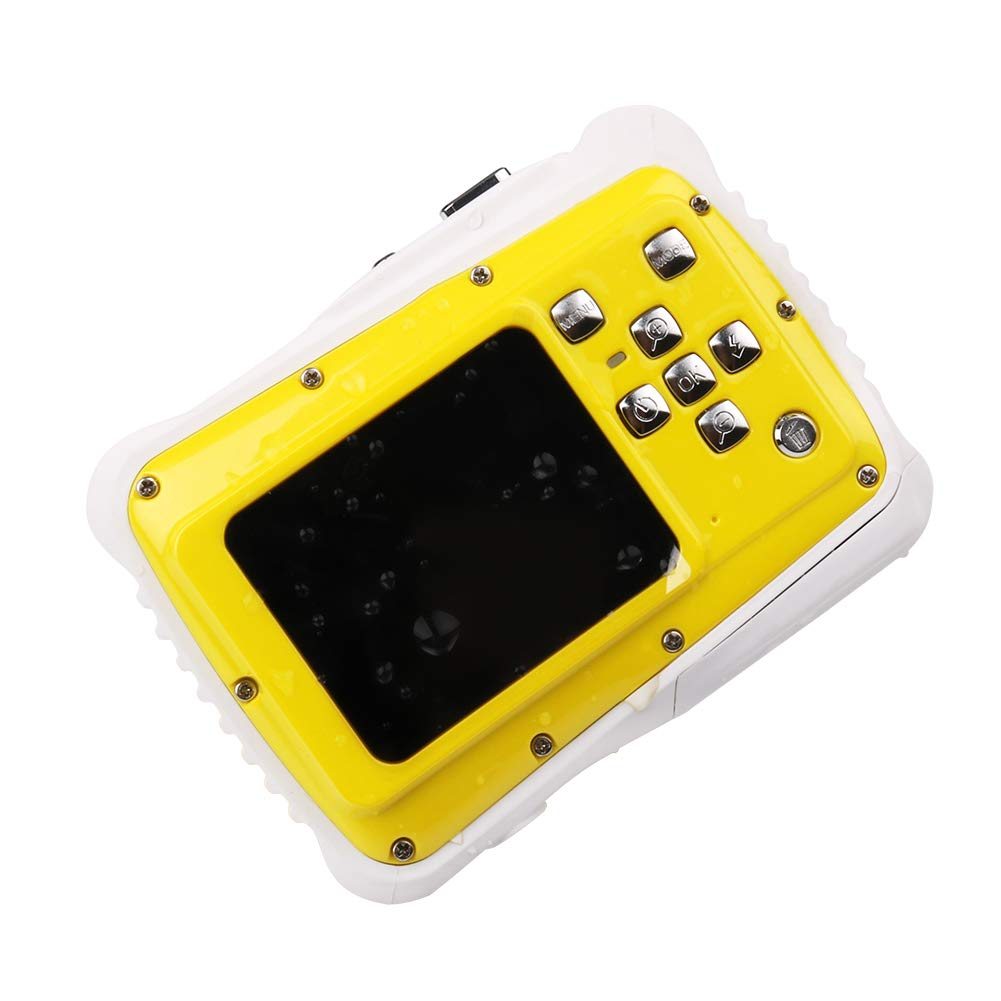 Smyidel Waterproof Mini Kid Camera High Definition 12MP HD 3M Underwater Swimming Digital Camera Camcorder 2.0 Inch LCD Display (Yellow) by Smyidel (Image #2)