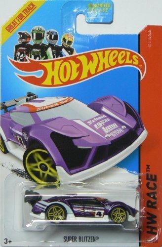 (Hot Wheels 2014 Track Aces Hw Race Purple Super Blitzen 163/250)