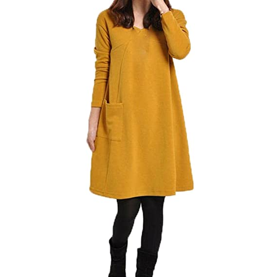 Vestido amarillo invierno